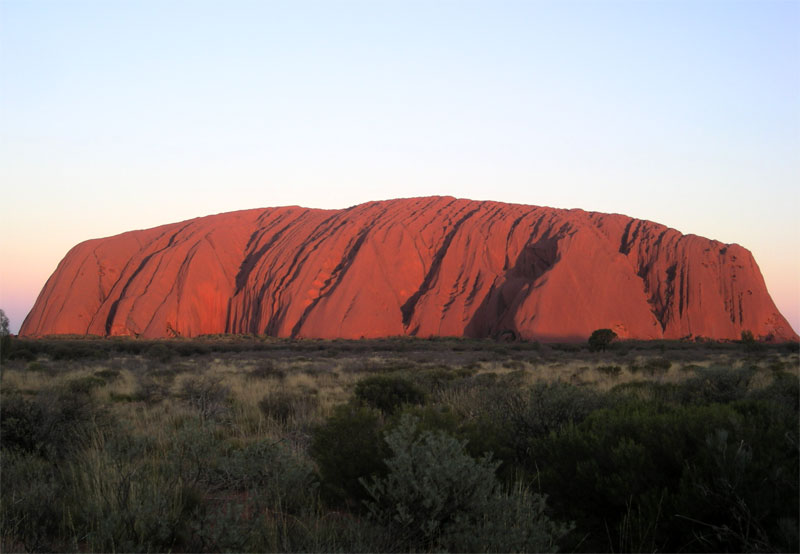 Uluru rocher rouge Australie