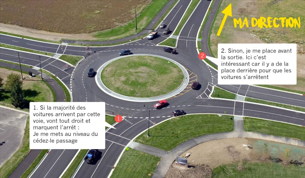 exemple rond point autostop