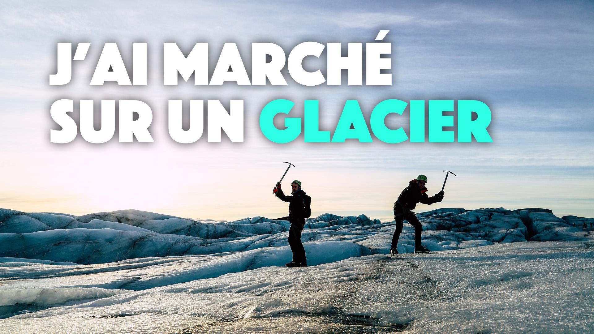 Islande : Marcher sur glacier à skaftafell