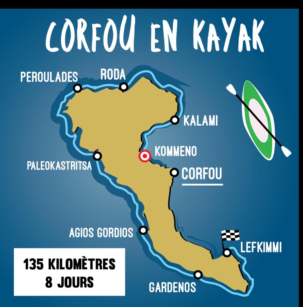 Tour de Corfou en kayak