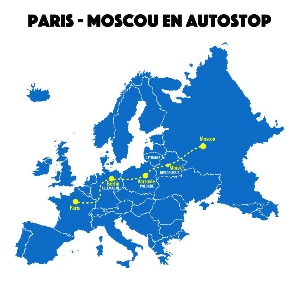 Trajet Paris-Moscou en autostop